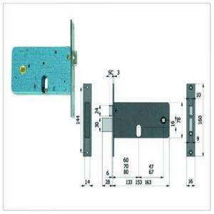 serratura Omec 370-770-870