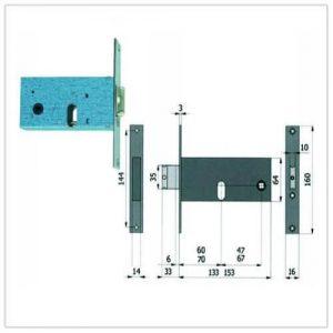 serratura Omec 380-780